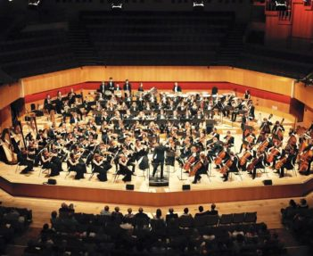 Stage Photo of the whole National Youth Orchestra of wales
