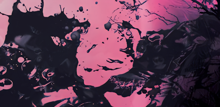 Black and Pink Paint Splat