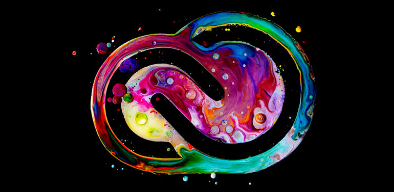 Modern colourful Water Effect Creative cloud logo