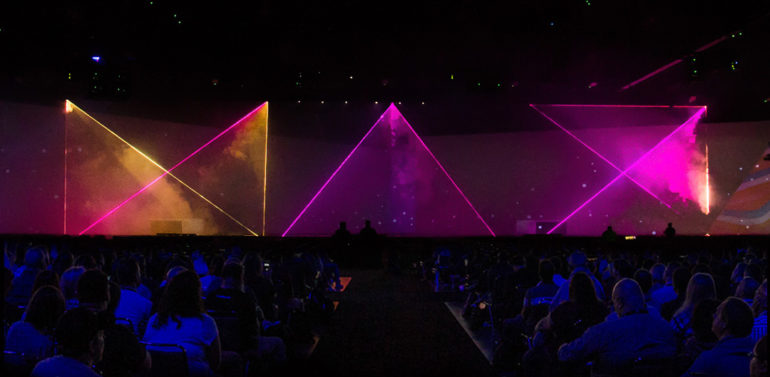 Adobe Max Event Main stage Light show