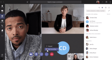 Mutliple people in a Microsoft teams video conference call